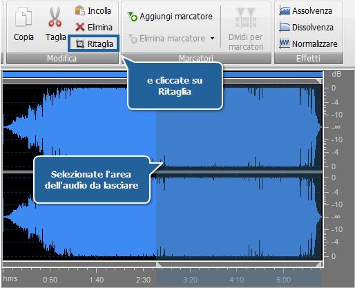 AVS Audio Converter - Ritagliare audio