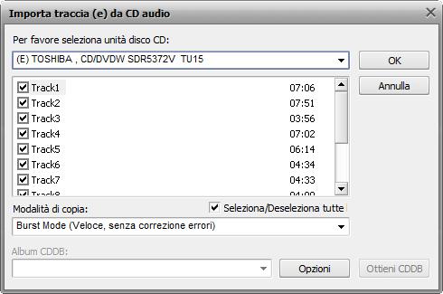 AVS Audio Converter - Copiare i file da un CD