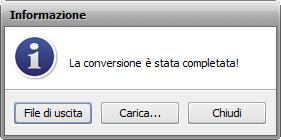 Uso di AVS Audio Converter - Finestra Informazione