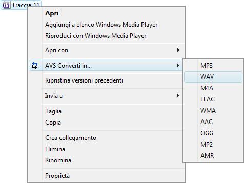 Uso di AVS Audio Converter - Conversione veloce
