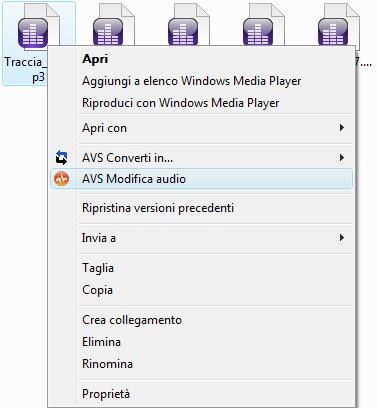 AVS Modifica audio