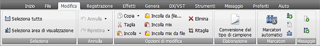AVS Audio Editor - Scheda Modifica