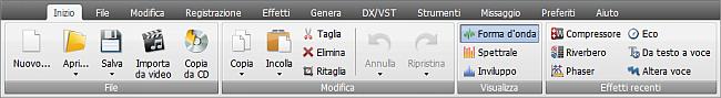 AVS Audio Editor - Scheda Inizio