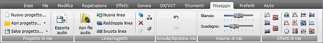 AVS Audio Editor - Scheda Missaggio