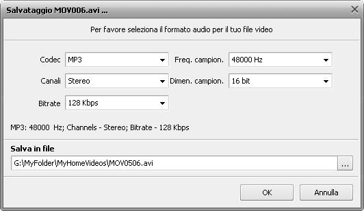 Salva file video