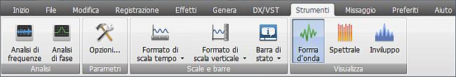 AVS Audio Editor - Scheda Strumenti