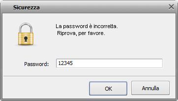 Password non corretta