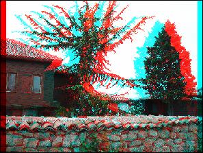 Dopo l'applicazione dell'effetto Anaglifo 3D