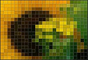Dopo l'applicazione dell'effetto Mosaico in rilievo