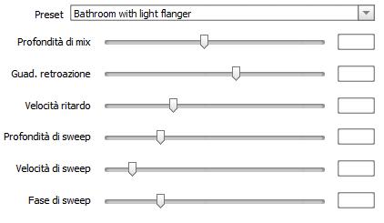 Proprietà dell'effetto chorus