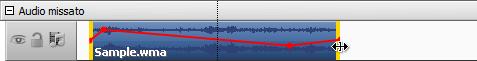 Cambia la durata della traccia audio nella Timeline
