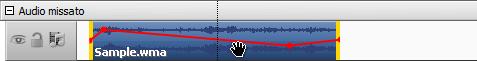 Cambia la posizione dell'audio nel video