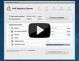 AVS Registry Cleaner. Guardate la presentazione video