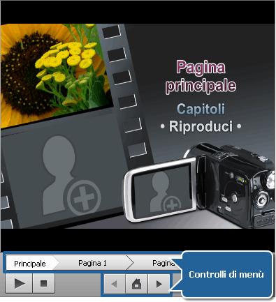 Finestra Menù disco - Anteprima