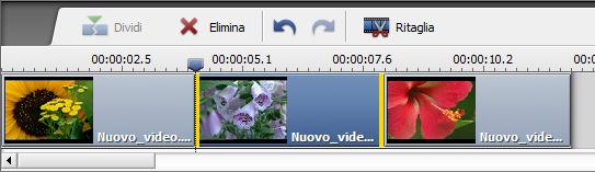 Cambiare la posizione del clip video