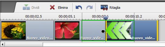 Spostare clip video
