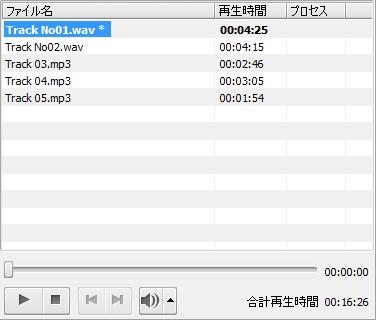 AVS Audio Converter - 入力オーディオ領域