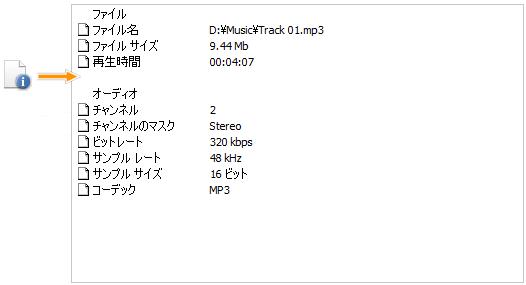 編集領域 - ファイル情報